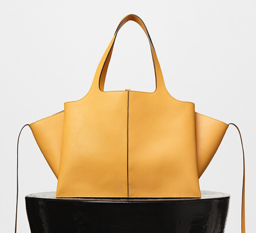 Celine-Tri-Fold-Shoulder-Bag-Yellow-3400