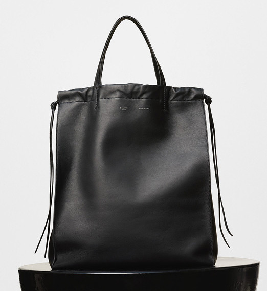 Celine-Vertical-Coulisse-Shoulder-Bag-Black-2200
