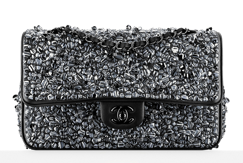 Chanel-Beaded-Classic-Flap-Bag-Black