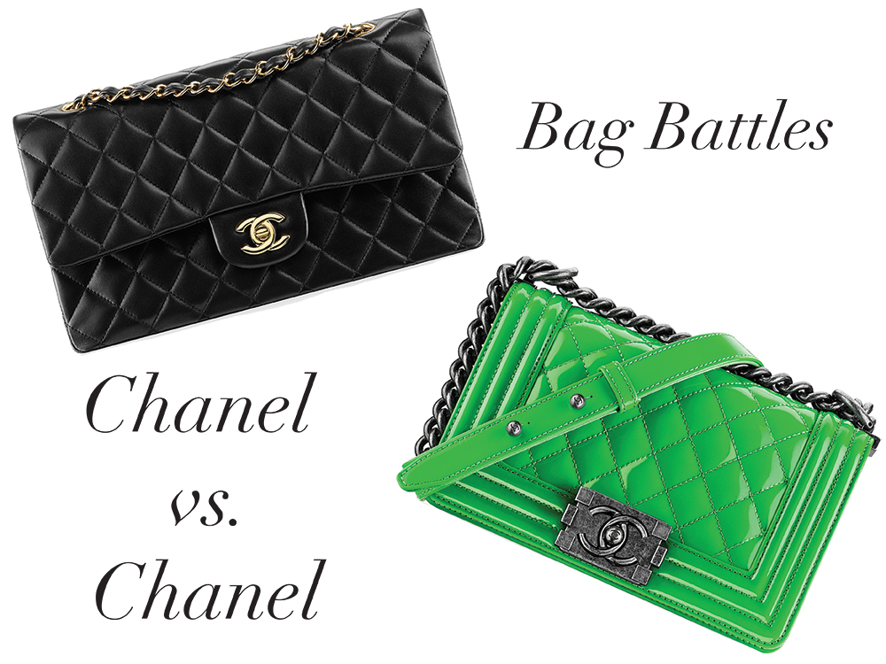 ab3626745215 Bag Battles: The Chanel Classic Flap Bag vs. The Chanel Boy Bag ...
