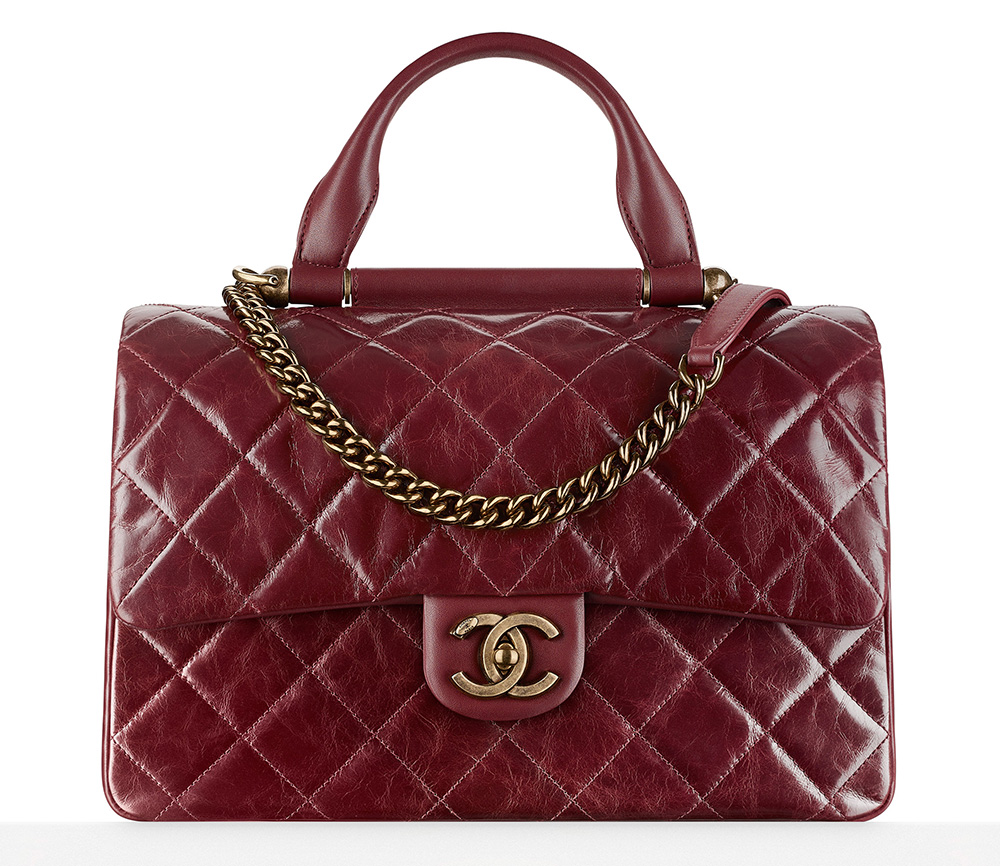 Chanel-Flap-Bag-With-Handle-Burgundy-3400
