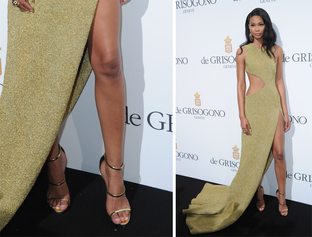 Chanel-Iman-Giuseppe-Zanotti-Metallic-Three-Strap-Sandals
