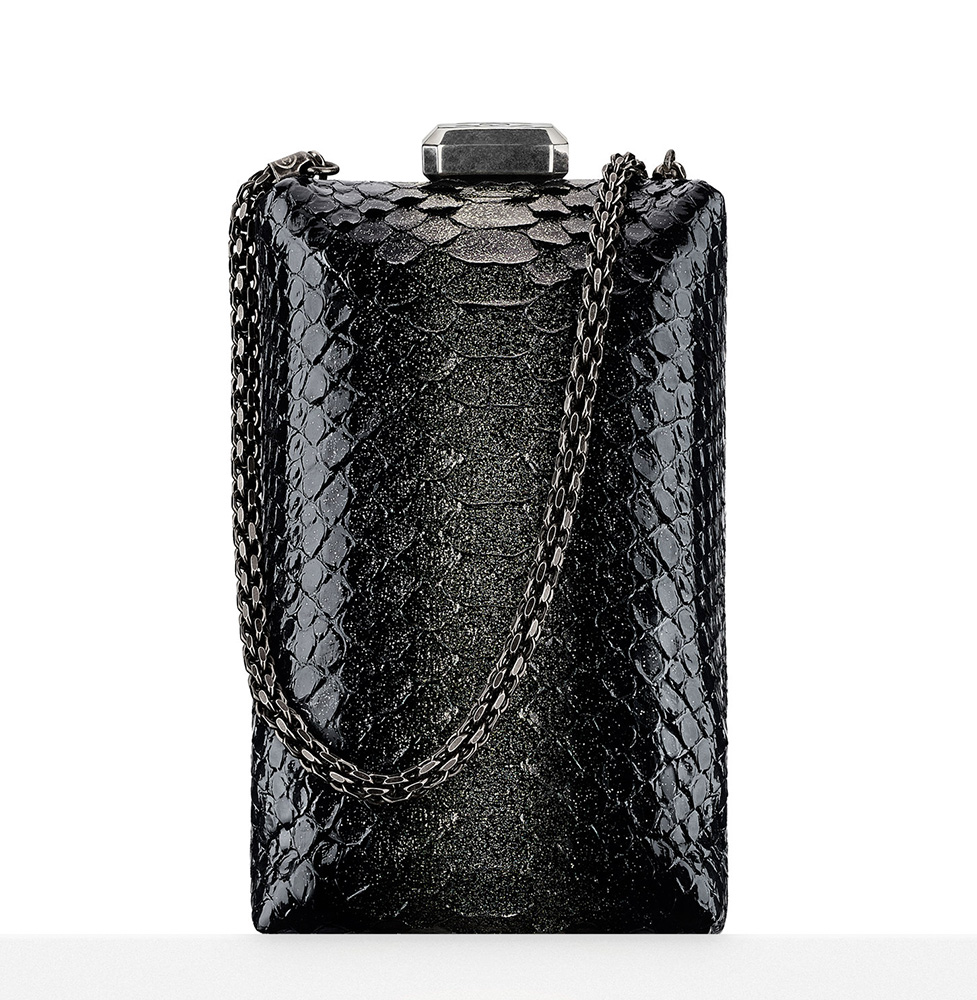 Chanel-Python-Kiss-Lock-Minaudiere-Black-4100