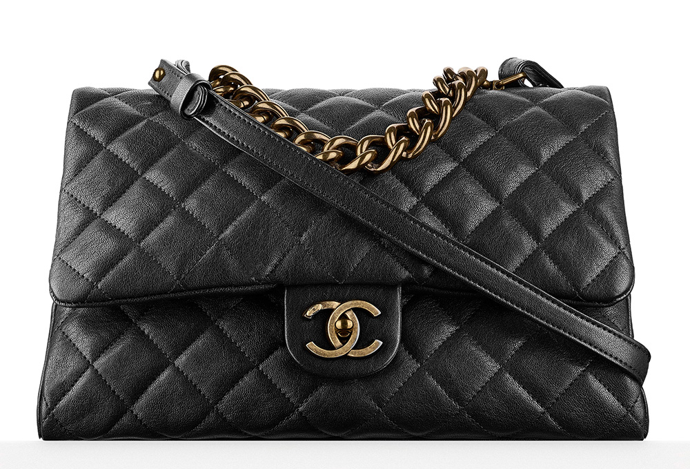 Chanel-Top-Handle-Flap-Bag-Black-3400