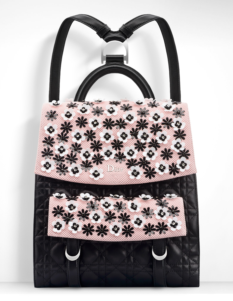 Christian-Dior-Stardust-Backpack-Black-Pink