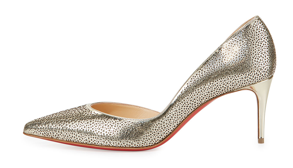 Christian Louboutin  Galu Half-d'Orsay 70mm Red Sole Pump