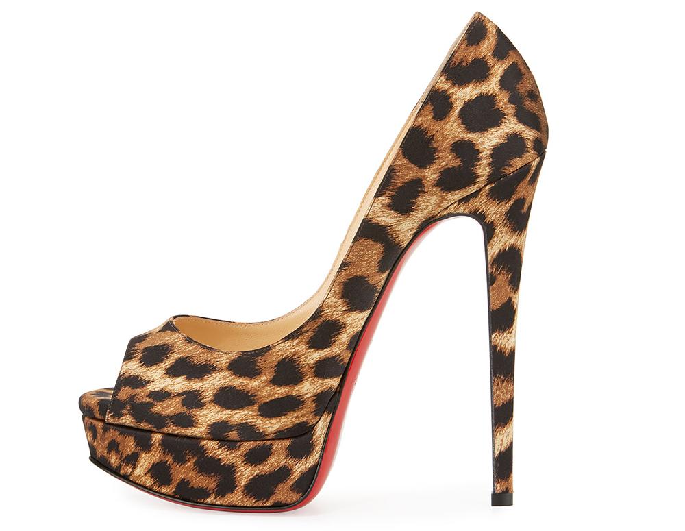 9d255e90bb83 Christian Louboutin Lady Peep Leopard-Print Red Sole Pump - PurseBlog