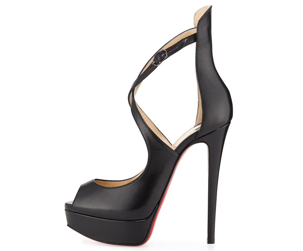 Christian Louboutin  Marlenalta Leather 150mm Red Sole Pump