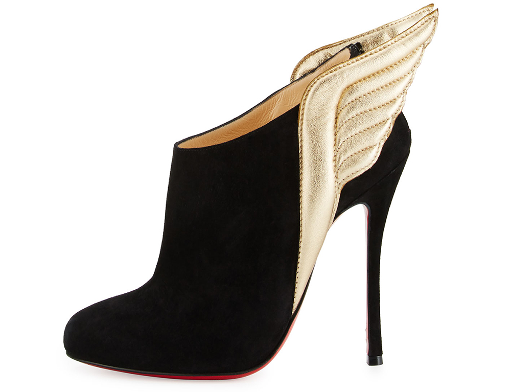 Christian Louboutin Mercura Wing 100mm Red Sole Bootie