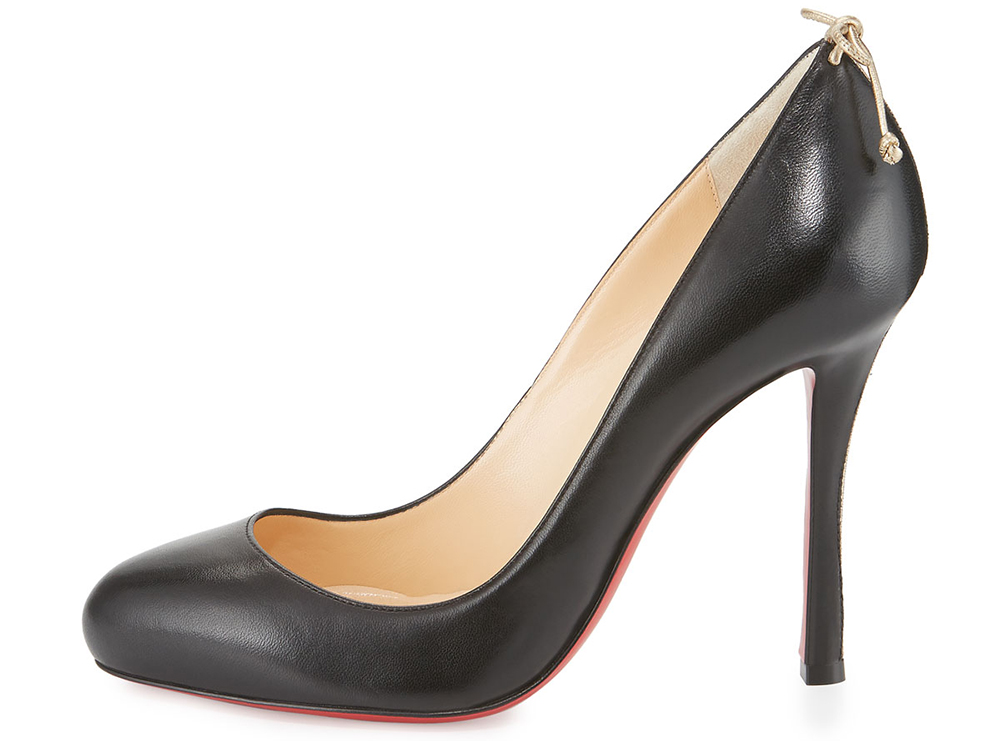Christian Louboutin Very Gemma Bow-Back 100mm Red Sole Pump