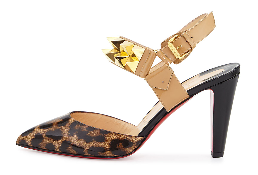 Christian Louboutin  Ziggoo Spiked Red Sole Slingback Pump