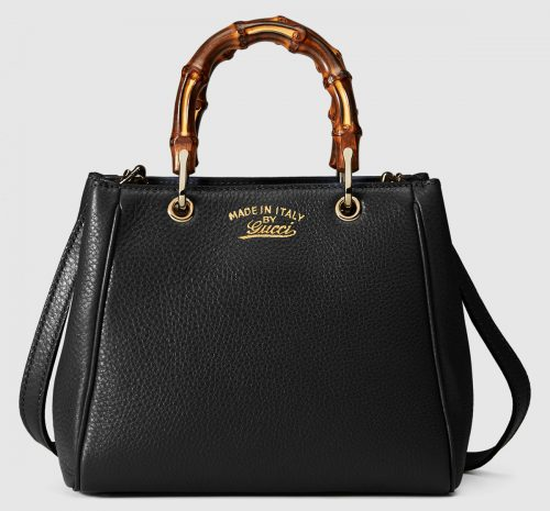 Gucci Bamboo Small Shopper Black