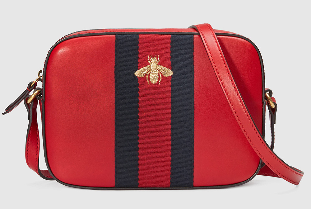 Gucci-Bee-Leather-Shoulder-Bag