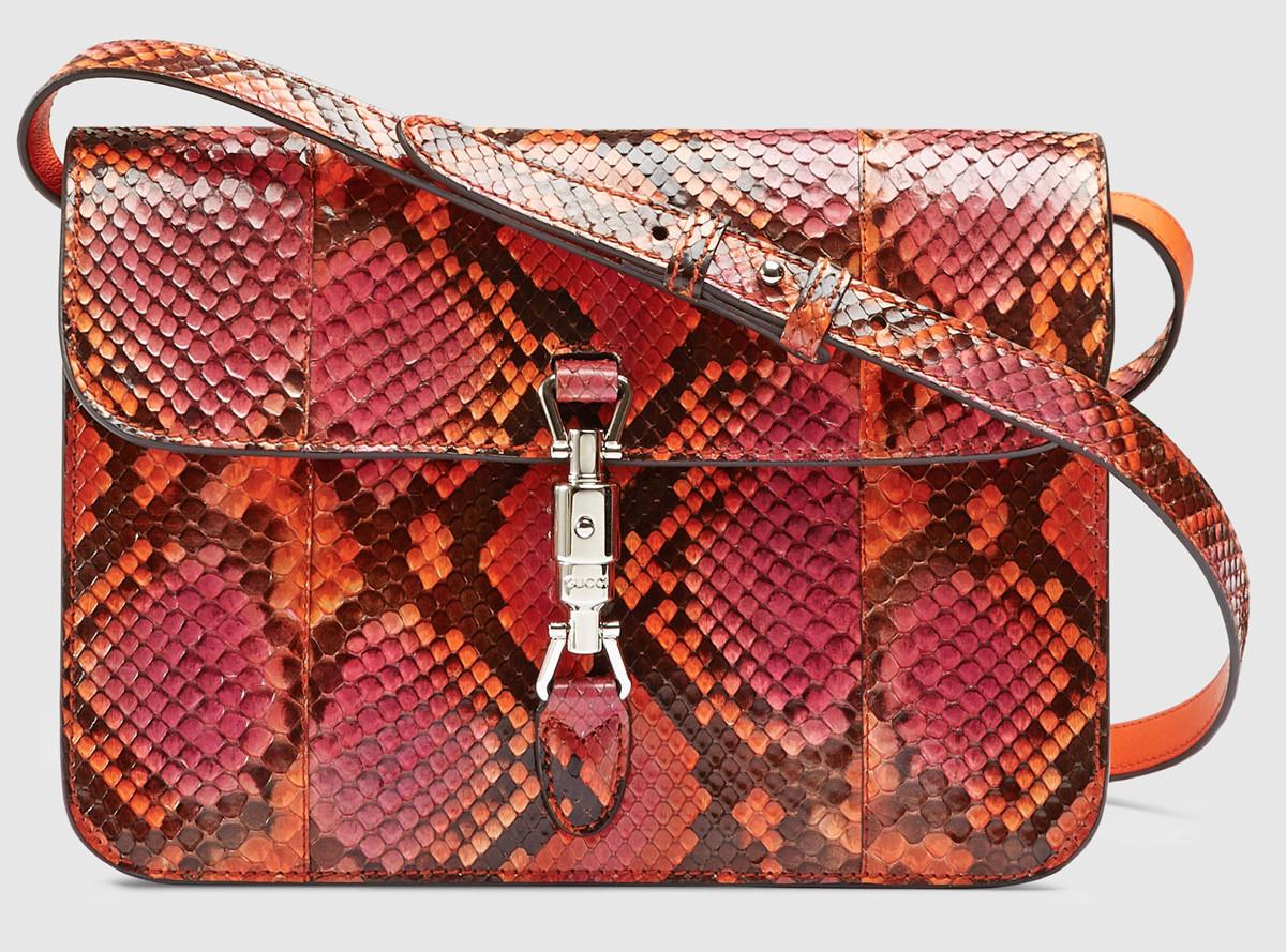 Gucci Jackie Soft Python Shoulder Bag