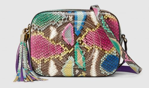 Gucci Python Rainbow Soho Disco Bag