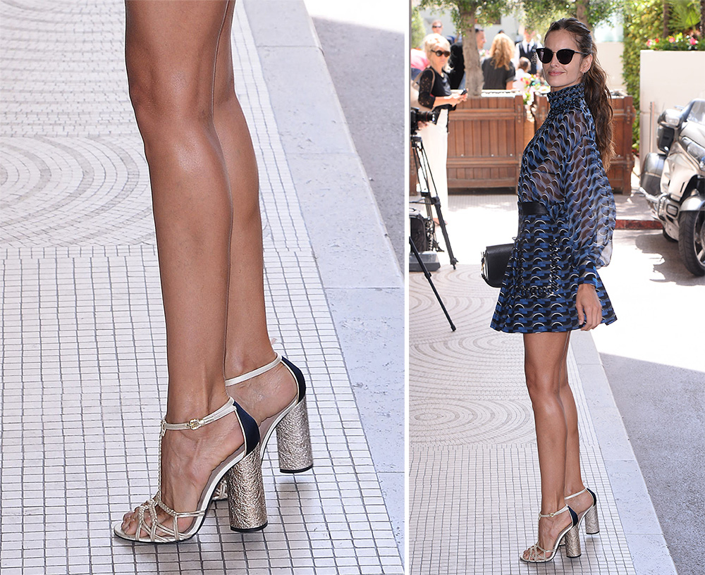 Izabel-Goulart-Fendi-Metallic-Sandals