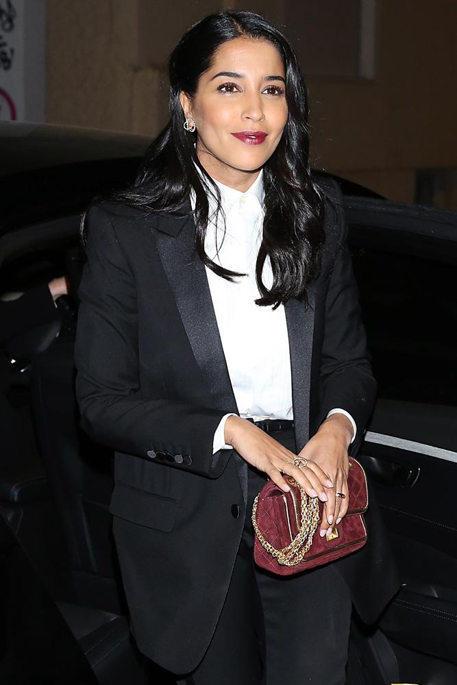 Leila-Bekhti-Chanel-Suede-255-Flap-Bag