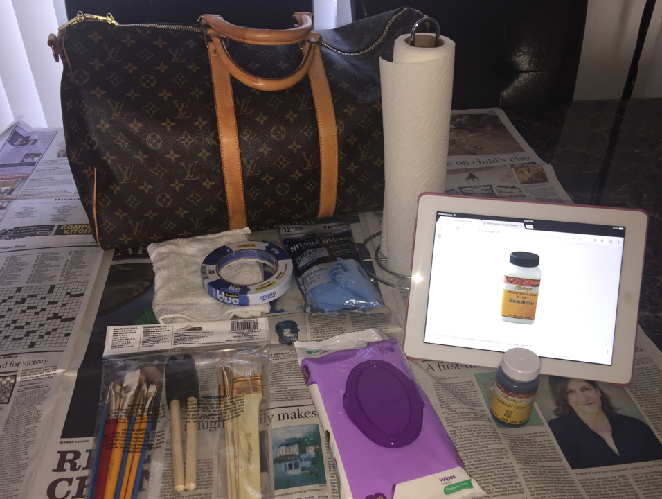 Louis-Vuitton-Keepall-DIY-Paint