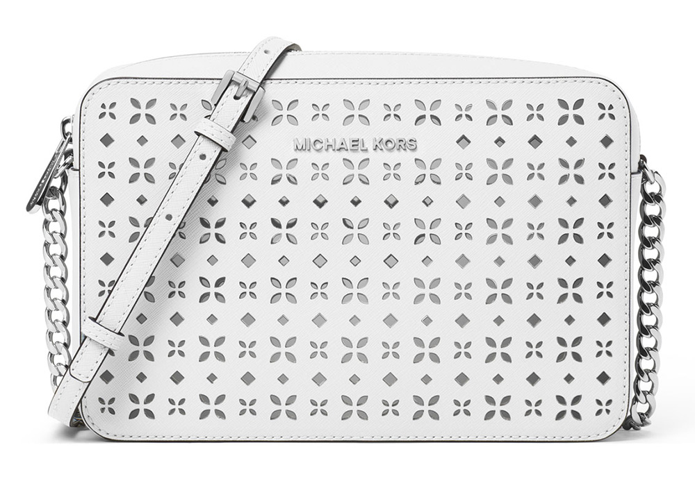 4ac1b70a2fde MICHAEL Michael Kors Jet Set Laser-Cut Crossbody Bag  198 via Neiman Marcus