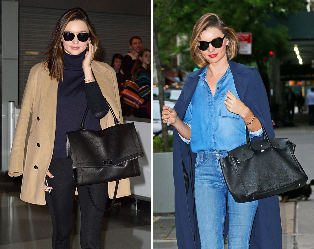 Just Can T Get Enough Miranda Kerr Loves Her Big Black Day Bags