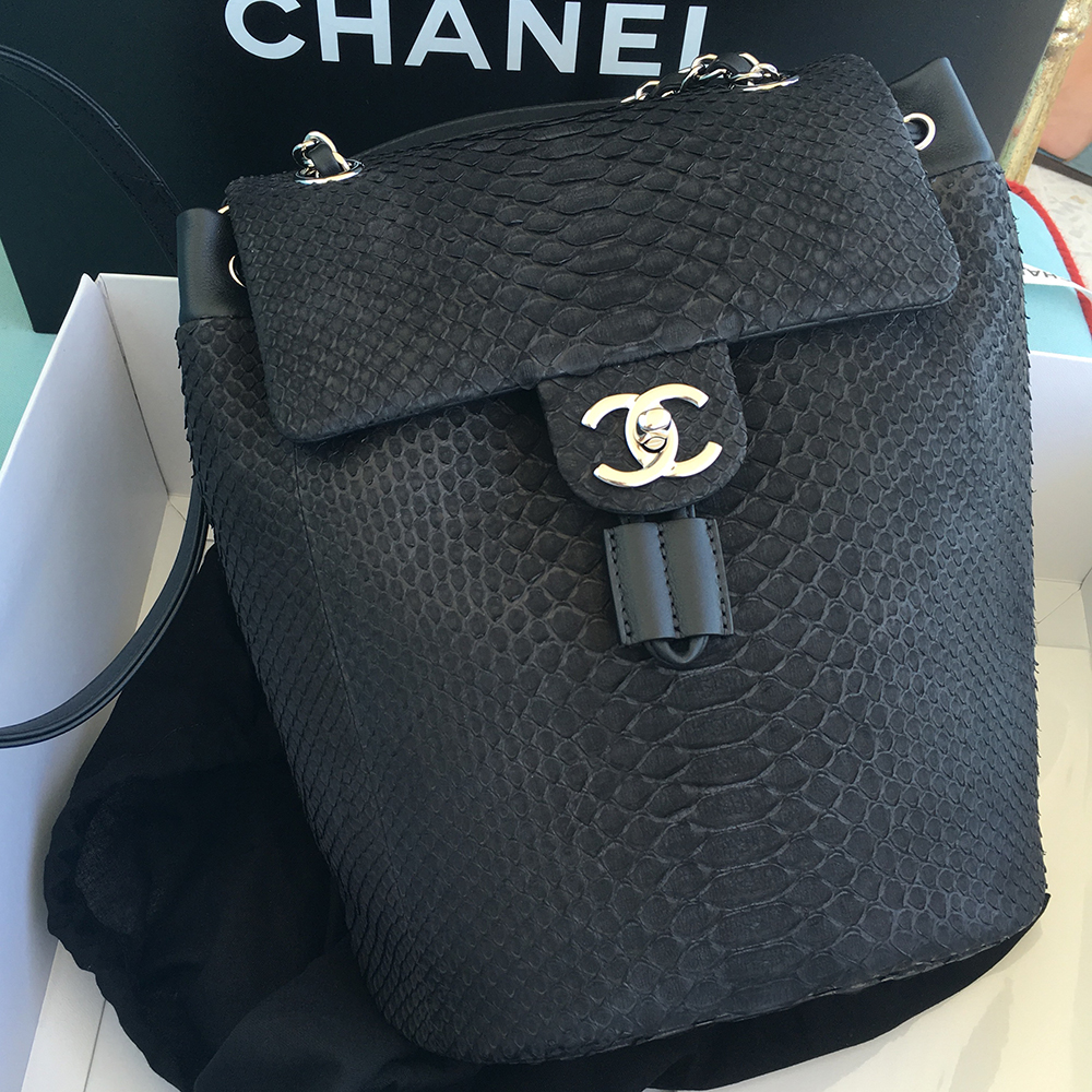 tPF Member: PetiteMalles Bag: Chanel Python Backpack