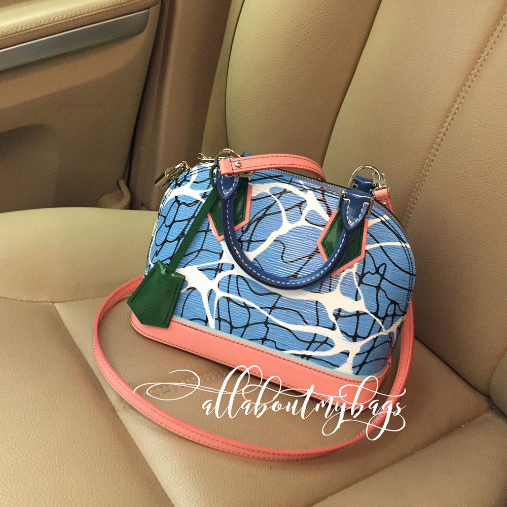 tPF Member: PinkInTheBlue, Bag: Louis Vuitton Aqua Print Epi Alma BB Bag, Shop: 2,230 via Louis Vuitton