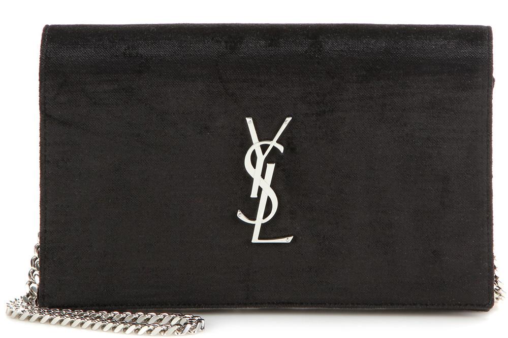 Saint-Laurent-Monogramme-Velvet-Shoulder-Bag