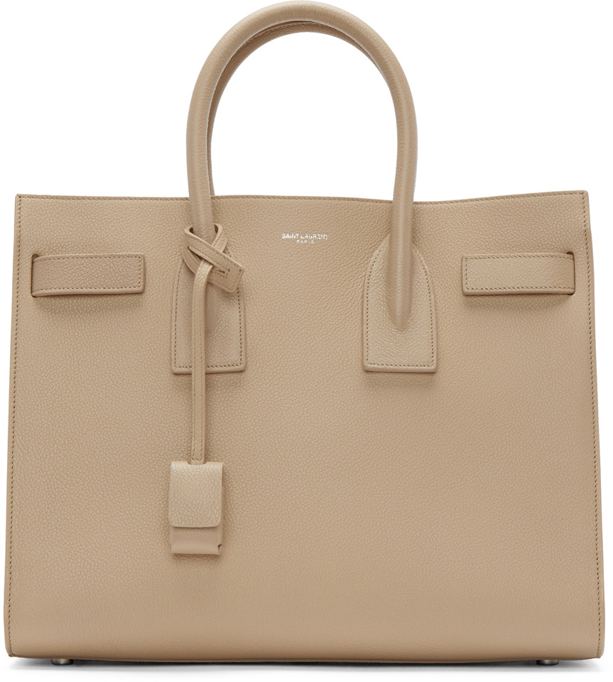 Saint-Laurent-Small-Sac-de-Jour-Beige-Bag