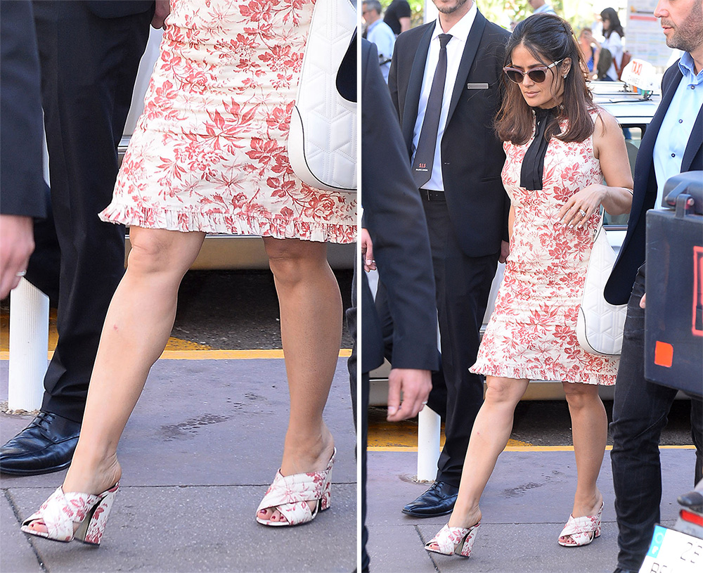 Salma-Hayek-Gucci-Crossover-Floral-Sandals