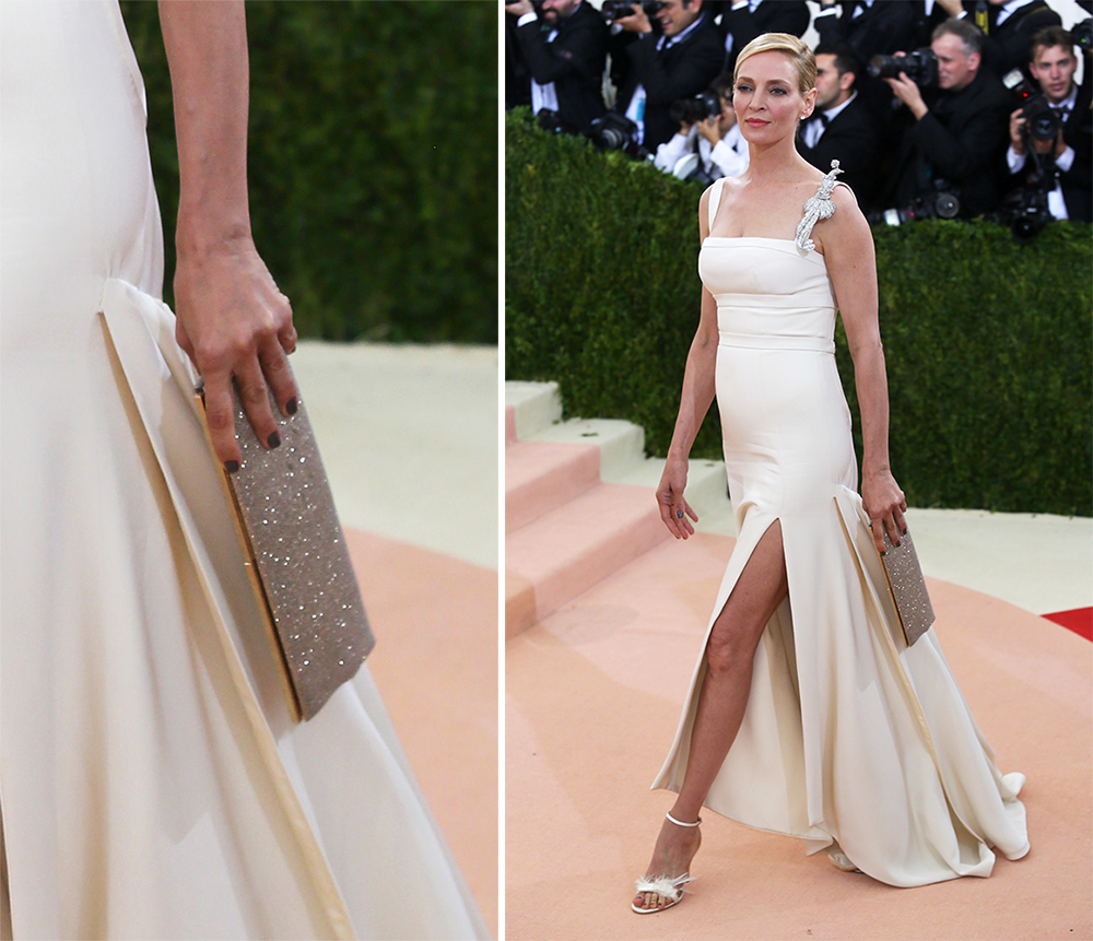 Uma-Thurman-Jimmy-Choo-Ciggy-Clutch