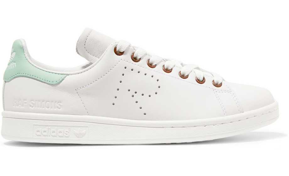 Adidas Originals and Raf Simons Stan Smith Perforated Leather Sneakers