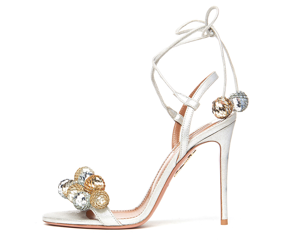 Aquazzura Disco Thing Sequin-Embellished Sandal
