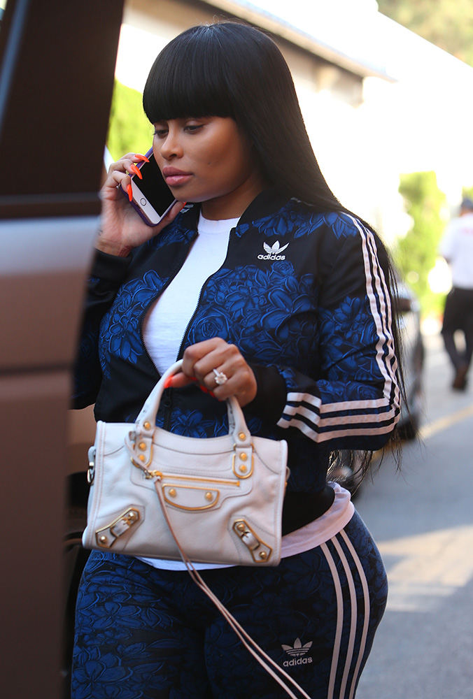 Blac-Chyna-Balenciaga-Metal-Edge-Mini-City-Bag