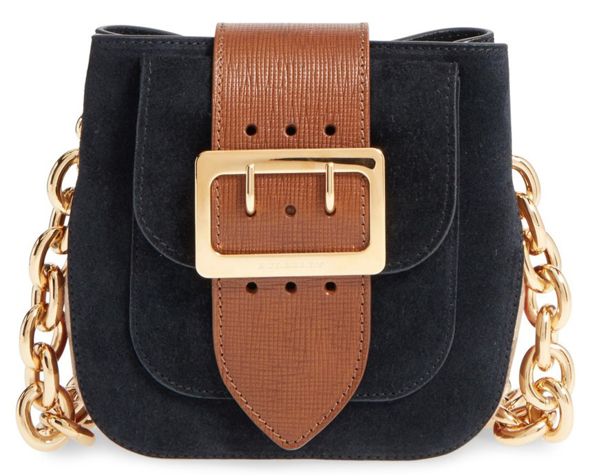 Burberry-Suede-and-Canvas-Convertible-Crossbody-Bag
