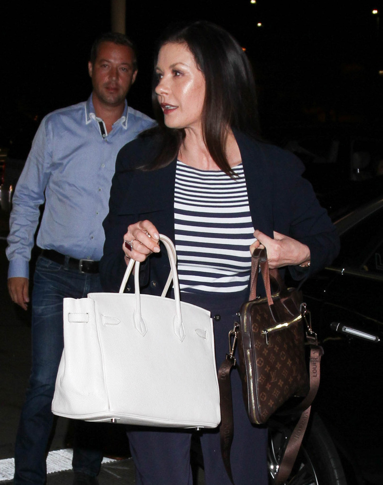 Catherine-Zeta-Jones-Hermes-Birkin-Louis-Vuitton-Briefcase