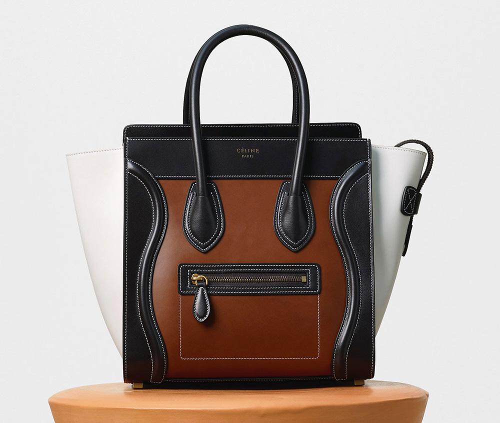 Celine Micro Luggage Tote Tricolor 3350