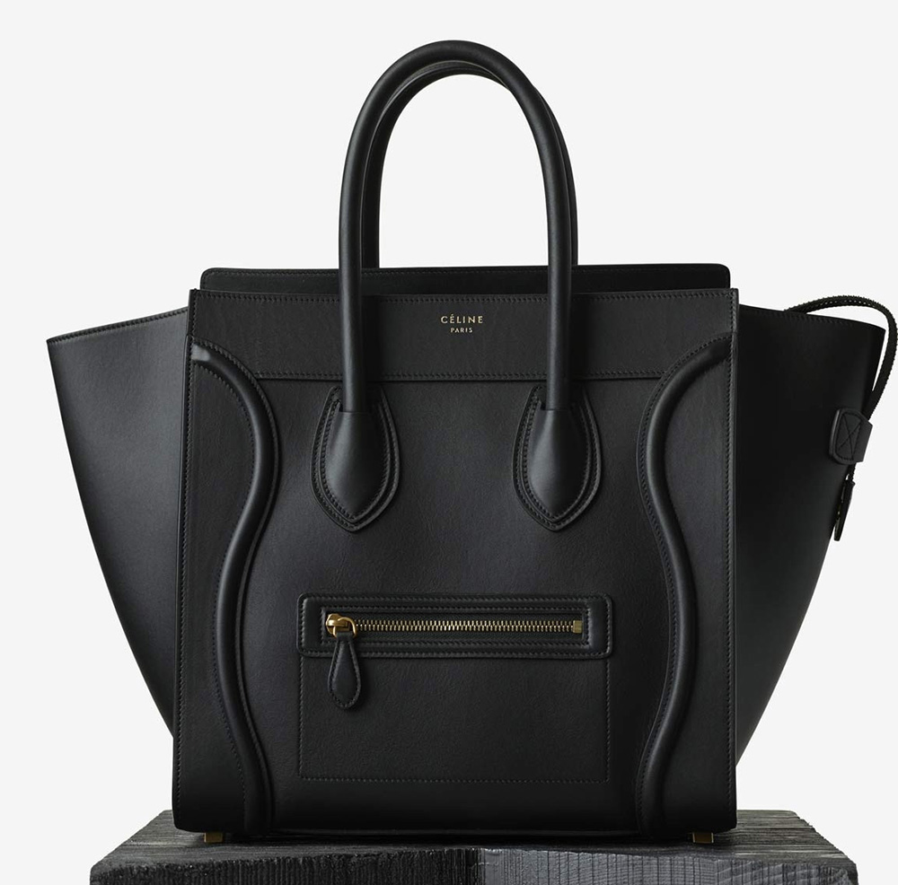 Celine-Mini-Luggage-Tote-Black-3100