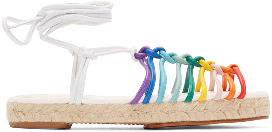 Chloe  Multicolor Leather Rainbow Sandals
