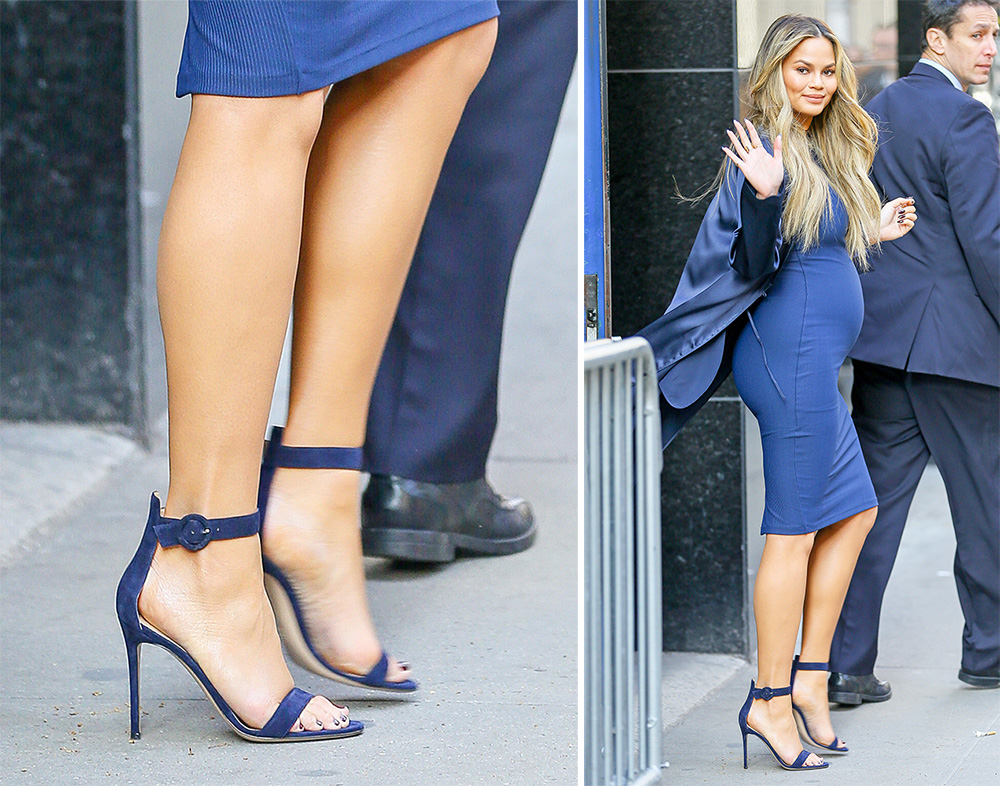 Chrissy Teigen Has A Pair Of Strappy Sandals For Literally