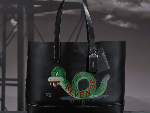 Coach-Baseman-Custome-Painted-Tote-Snake