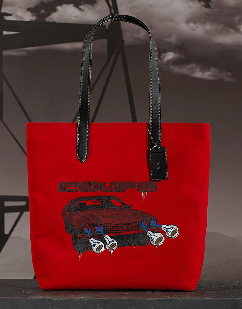 Coach-Baseman-Printed-Tote-Red-Car