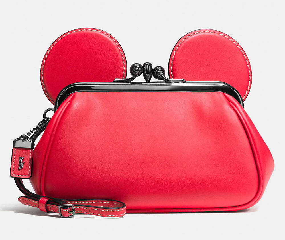 Disney X Coach Mickey Kisslock Wristlet
