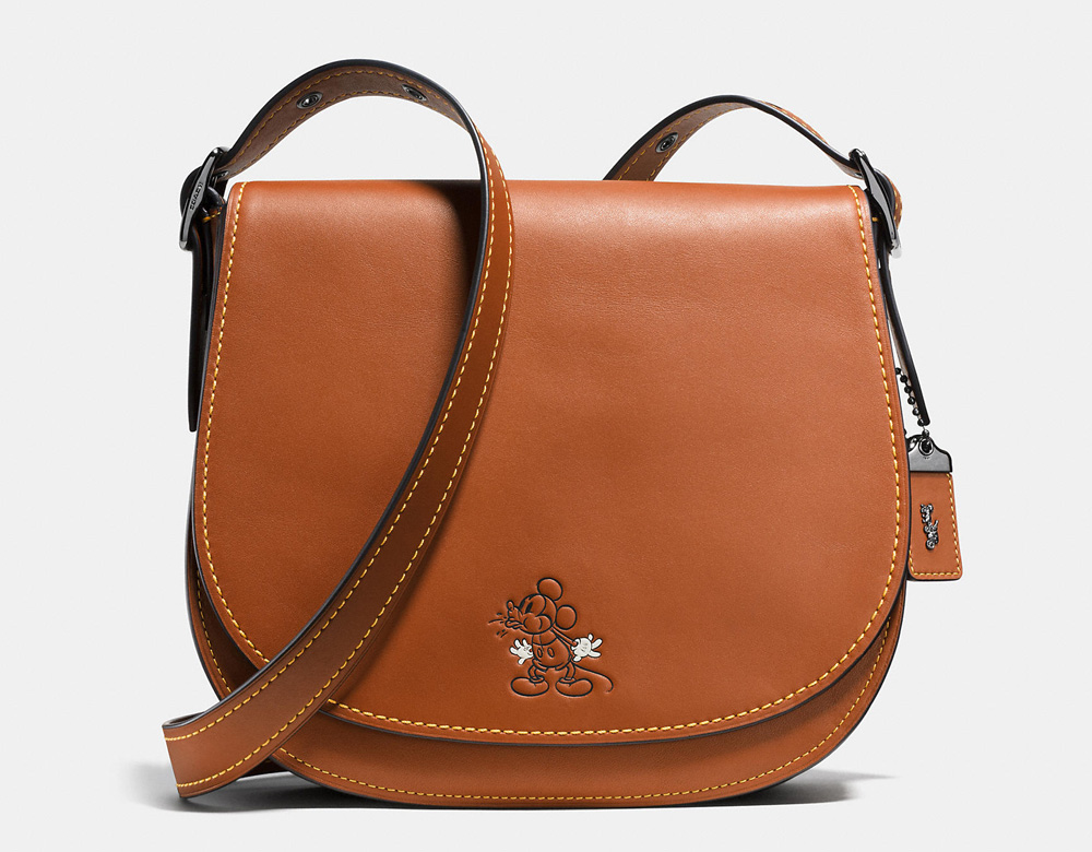 Disney X Coach Mickey Saddle Bag