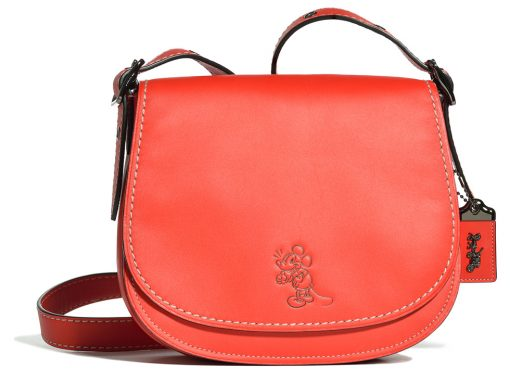 Disney-x-Coach-Saddle-Bag-Red