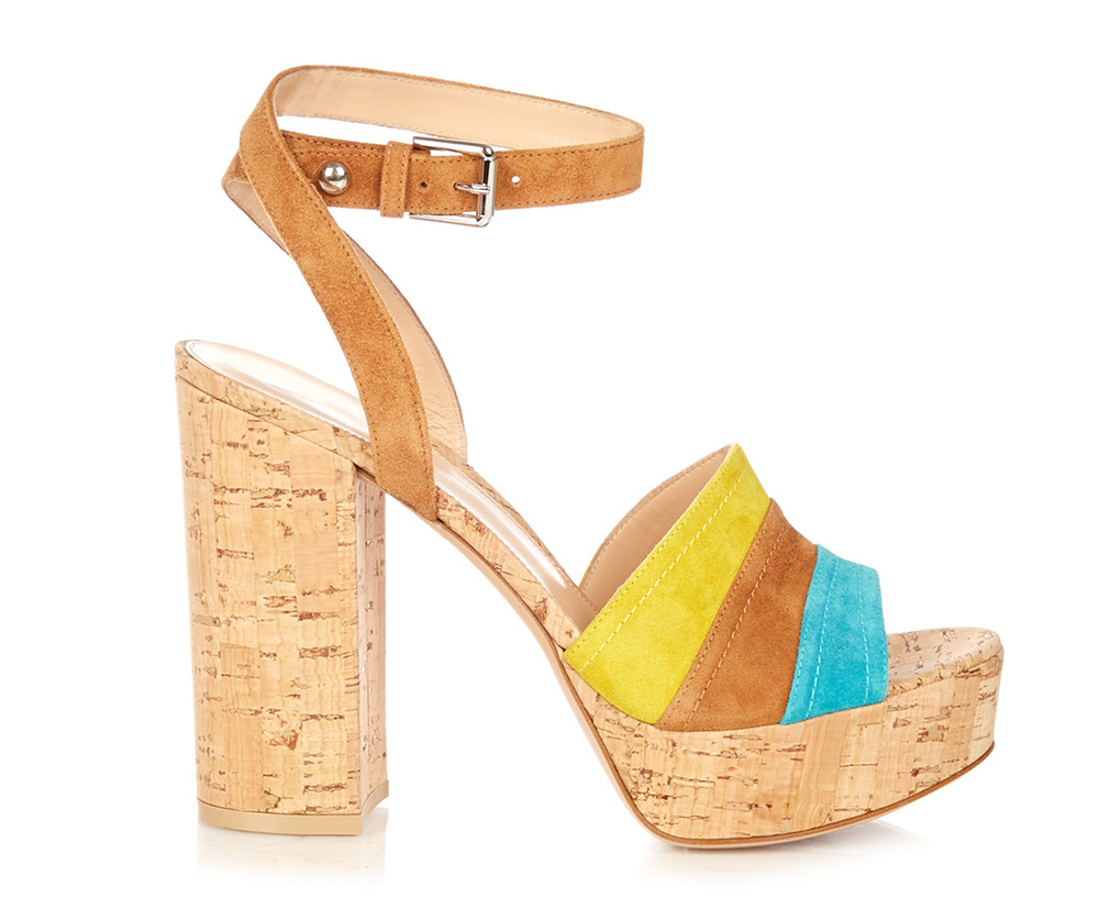 Gianvito Rossi Block-Heel Cork Sandals