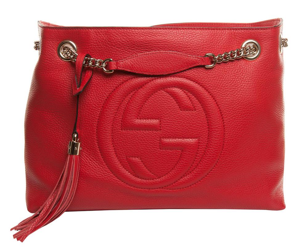 Gucci Soho Shoulder Bag Red
