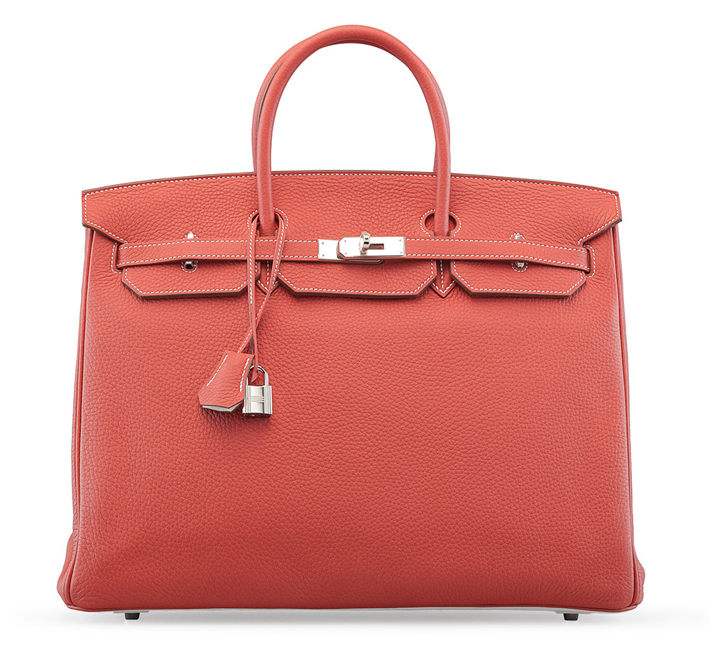 Hermes-Birkin-Limited-Edition-Sanguine-and-White-Clemence-Eclat-40cm