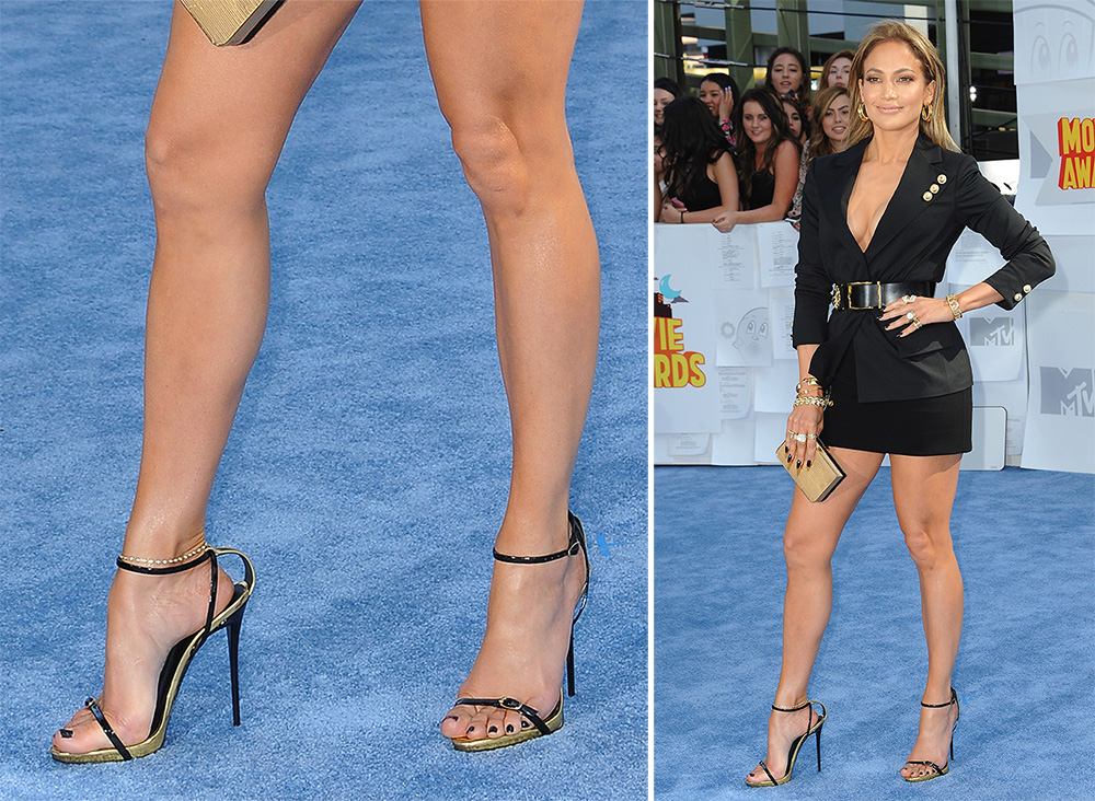 Jennifer-Lopez-Giuseppe-Zanotti-Metallic-Sandals