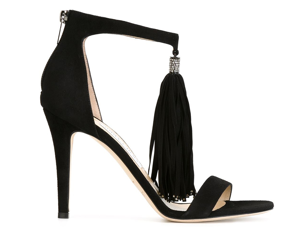 Jimmy Choo Viola Crystal Suede Sandals