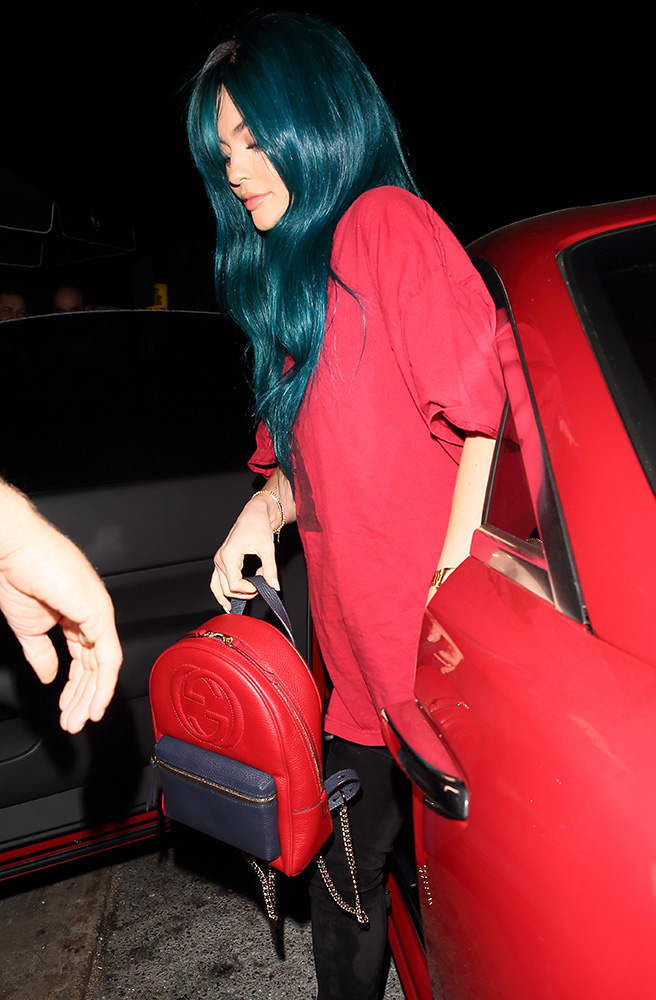 Kylie-Jenner-Gucci-Backpack